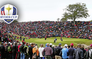 AALBORG, DENMARK - AUGUST 17:  A general view of the 16th green as Thomas Bjorn of Denmark, Oliver Fisher of England and Mikael Lundberg of Sweden play the hole during the final round of the Made In Denmark at Himmerland Golf & Spa Resort on August 17, 2014 in Aalborg, Denmark.  (Photo by Andrew Redington/Getty Images)