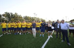 La prima squadra della Racing Roma presentata durante il vernissage della seconda edizione del Memorial Cristina Varani